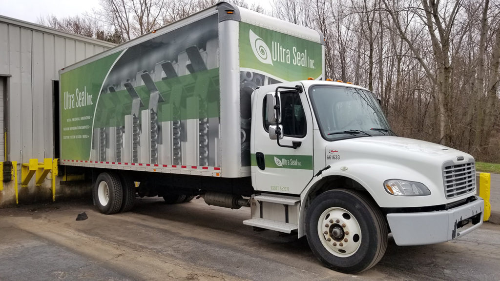 Ultra Seal Metal Finishing Delivery Truck